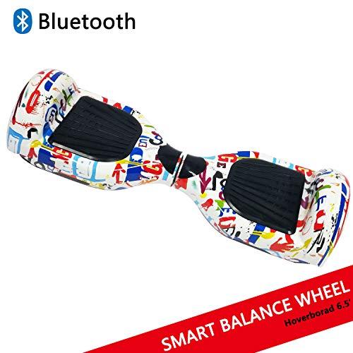 Hoverboard con ruedas de 6.5' Scooter eléctrico Self-Balancing Self Blance Scooter Monopatín eléctrico Smart Self Balance Board dibujo en color (Graffiti)