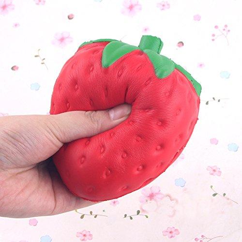 MUITOBOM MUITOBOM 11.5CM Jumbo Colossal Squishy Strawberry Cream Scented Slow Rising Baby Toys