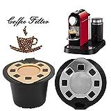 TAOtTAO Nachfüllbare Wiederverwendbare Kaffee Kapseln Pods für Nespresso Maschinen Filter (rot) (A)