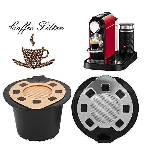 TAOtTAO Nachfüllbare Wiederverwendbare Kaffee Kapseln Pods für Nespresso Maschinen Filter (rot)...