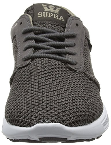 Supra Hammer Run, Baskets Basses Homme Grau (Charcoal-White)