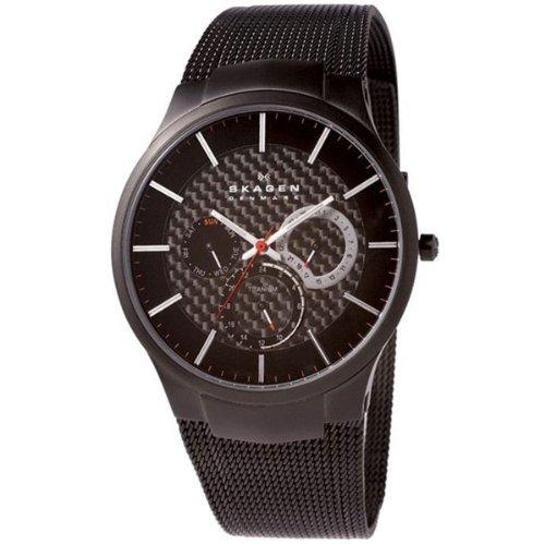 Skagen - 809 XLTBB - Montre Homme - Quartz - Analogique - Bracelet Acier Inoxydable Noir