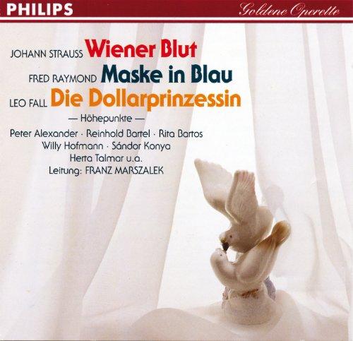 in Blau - Die Dollarprinzessin (Wiener Maske)