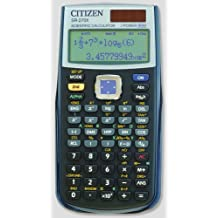 Citizen SR-270X College - Calculadora (bolsillo, Battery/Solar, CR2032, 84 mm, 165 mm, 20 mm) - Color Negro