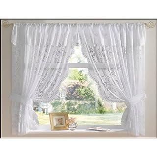White Andrea Net Curtain Set 200