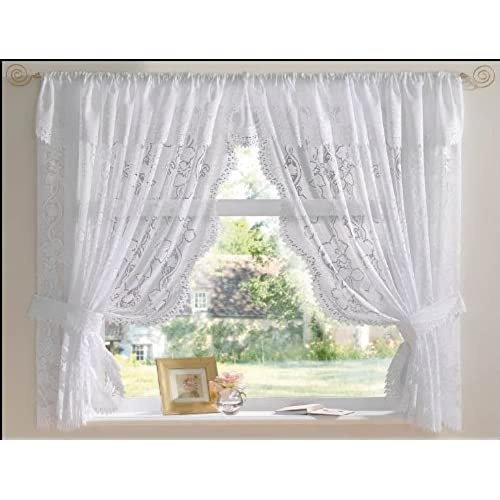 latest curtains lace bloggerwithdayjobs curtain kitchen modern white passions