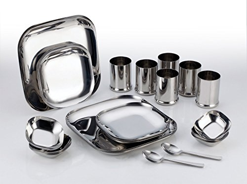 Aristo Stainless Steel Desire Square Dinner Set - 36 pcs  available at amazon for Rs.3999