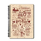 "Mc Sid Razz Official ""Harry Potter""-Infographic-Red Notebook Licensed By Warner Bros, USA"