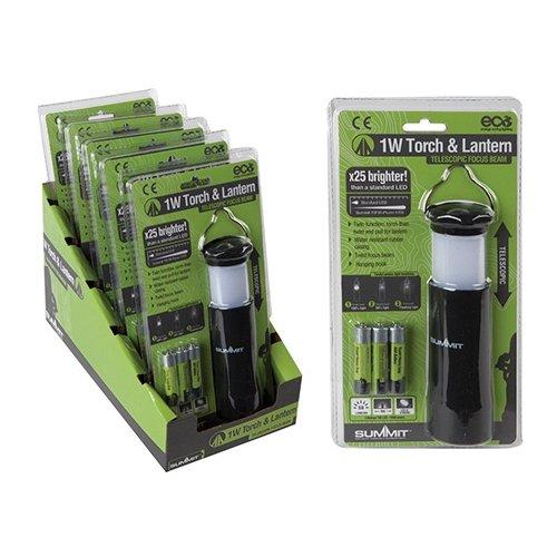 Summit Outdoor-drei-licht (LED-Taschenlampe & Camping Lantern hybriden Leichtbau Aluminium Voll oder Blitzlampe)