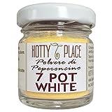 7 POT WHITE Peperoncino in POLVERE Piccante ALTO e gusto FRESCO vaso vetro 10g
