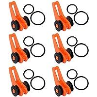 10pcs/lot ajustable naranja Color plástico pesca Rod poste Guardián HooK Lure Cuchara cebo Agudos Holder pequeño Accesorios de pesca