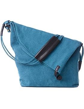 Vintage Schultertasche Unisex Umhänge Tasche Canvas Einkaufstasche Mesenger Bag Farbwahl