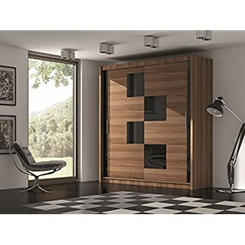 kleiderschrank york vi in wenge mit spiegel und. Black Bedroom Furniture Sets. Home Design Ideas