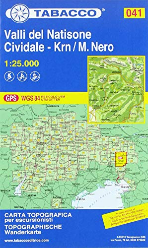 Valli del Natisone. Cividale del Friuli. Monte Nero 1:25.000 (Carte topografiche per escursionisti) por Aa.Vv.