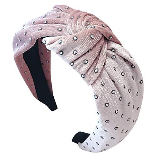 Qingjiu fascia per capelli con fiocco moda per donna fascia per capelli fasce per capelli dolce semplice per ragazze