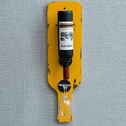 GWFVA Weinregal Retro Massivholz Weinglasregal Kreative Bar Home Wandkombination Weinständer. (Farbe: B)