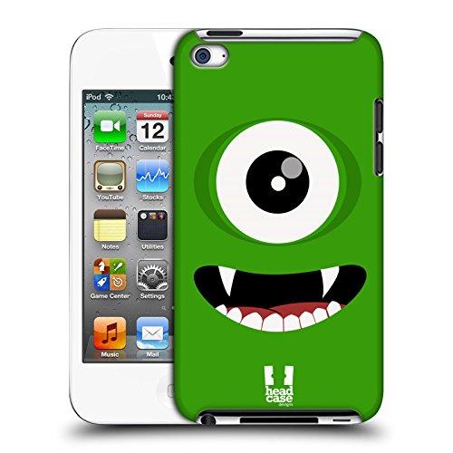 Head Case Designs Grün Fröhlich Monster Harte Rueckseiten Huelle kompatibel mit Apple iPod Touch 4G 4th Gen - 4 Case Ipod Grün