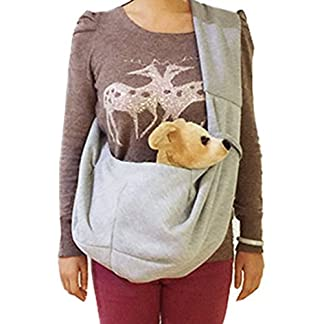 Andux Zone Pet Shoulder Bag Pet Carrier Sling for Small Dog Cat CW-JB-01 (Grey) 51QSW2Vy88L