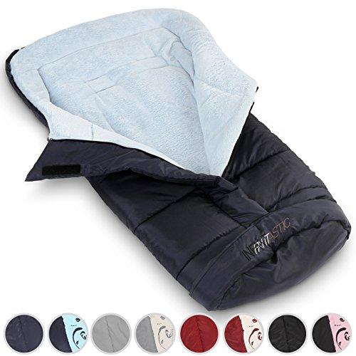 Preisvergleich Produktbild Infantastic Fleece Winterfußsack Universal Baby-Fußsack für Kinderwagen, Buggy, Babyschale & Auto-Kindersitz, blau