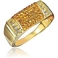 AmberMa Anillo de moda chapado en oro de 18 quilates para unisex, regalos de cumpleaños, mujeres, amigas, pulseras
