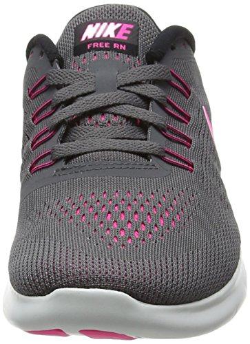 Nike Free Rn, Scarpe da Corsa Donna Grau (dark Grey/pink Blast/black/cool Grey)