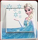 fashion boutik Aufkleber für Lichtschalter oder Steckdose, Die Eiskönigin Elsa