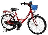 """Bachtenkirch 1300432-FW-74 - Bicicletta da bambino dei vigili del fuoco """"Feuerwehr"""", colore: rosso/bianco, 16"""