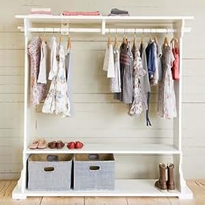 opsetims garderobe romy kleiderst nder f r ankleidezimmer massivholz wei 160x150x35cm. Black Bedroom Furniture Sets. Home Design Ideas