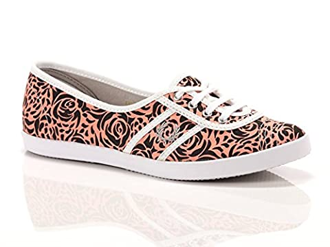 Fred Perry Aubrey Canvas Damen Sneaker Pink