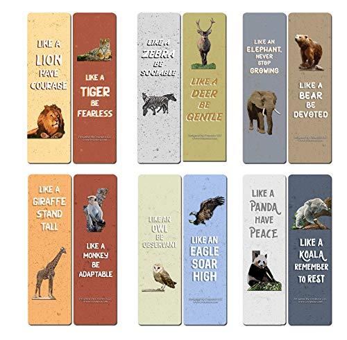 Segnalibri con citazioni ispiranti per artisti (confezione da 12), Segnalibri con scritta animale, confezione da 12, (12-Pack)