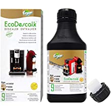 EcoDescalk Ecológico Concentrado (9 Descalcificaciones). Descalcificador 100% Natural. Limpiador para Cafeteras