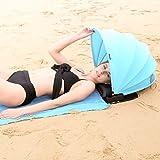 HAIYANLE Verstellbar Strandmuschel und Gesicht Sonnenschutz Strandzelt Outdoor Sonnenschutz Shelter für Strand (Blau)