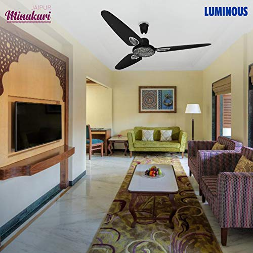 Luminous Jaipur Minakari 1200mm Ceiling Fan (Abu Black)