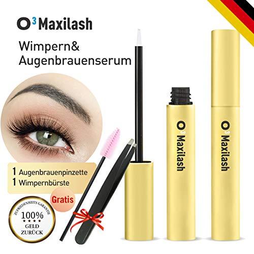 O³ Wimpernserum wachstum // Augenbrauenserum // Augenbrauen booster // Wimpernpflege lange & kräftige Wimpern // Pinzette & Bürste Gratis