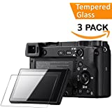 QIBOX 3 PACKS Tempered Glass Screen Protector For Sony Alpha A6000 A5000 A6300 NEX-7 NEX-3N NEX-5 NEX-6 NEX-6L
