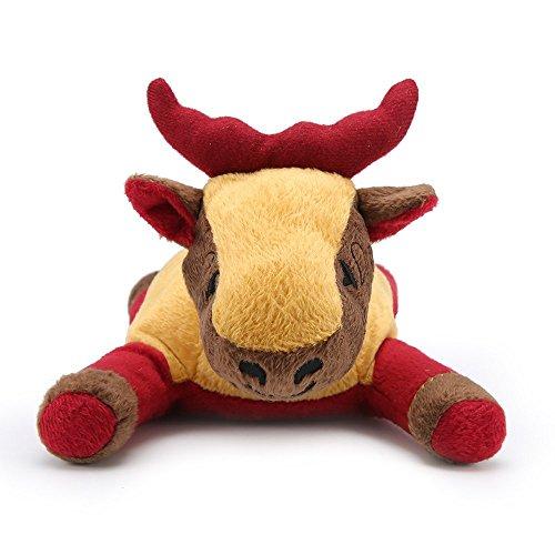 Hundespielzeug Plüsch langlebig Tierspielzeug mit quietschenden für Weihnachten Haustier(Biber)