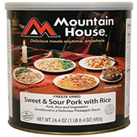 Mountain House Sweet & Sour Pork with Rice #10 Can Freeze Dried Food - 6 Cans Per Case by Mountain House
