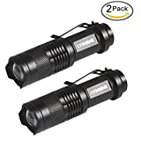 CYBGENE® Portable Pocket LED Flashlight, Torch, EDC, Zoomable, Outdoor Lantern, 800 Lumen High Light,5 Lightning Modes with a Pocket survival tool, 3*
