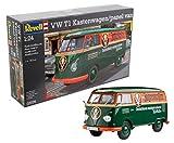 Revell Modellbausatz Auto 1:24 - Volkswagen VW T1 Bulli Kastenwagen im Maßstab 1:24, Level 5, originalgetreue Nachbildung mit vielen Details, VW Bus, 07076