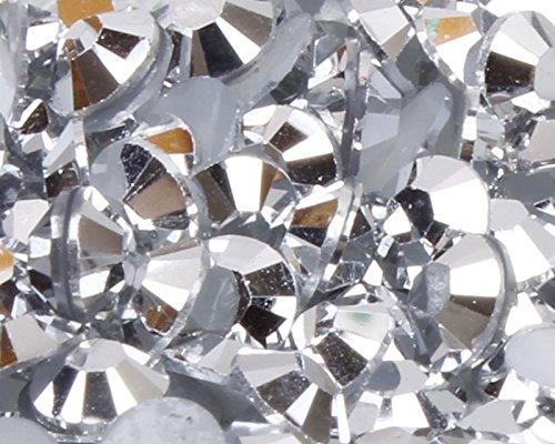 Plastikbeutel 2Shop Starterset Dehnstab/Expander/Taper oder gemischt Größe Kunstharz Strass 20Farben Glitzerelementen 4 mm silber