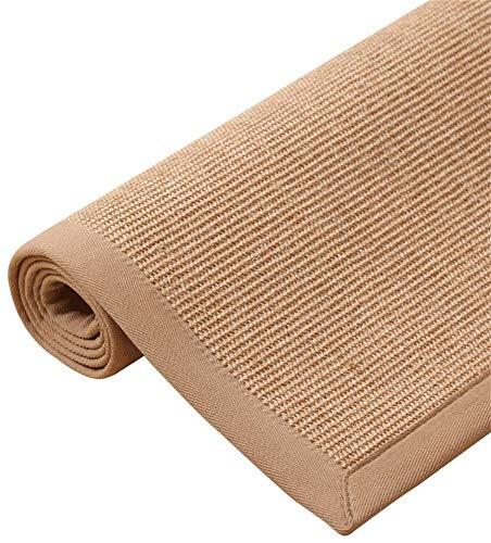 Moquette di qualità Tessuti a Mano in Paglia Sisal Area tappeti/Soggiorno Antiscivolo Pad/Tavolino Tappetino/Studio Camera da Letto Studio Tappeti Zona Sport e Tempo Libero (Dimensioni: 80x150 cm)