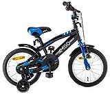 Amigo BMX Fun 14 Zoll 21,5 cm Jungen Rücktrittbremse Schwarz/Blau