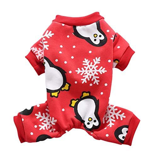 Handfly Pijamas para Perros Mono Ropa para Navidad Perrito Abrigo de Invierno...