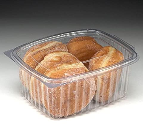 Eden elfes 50x 1000cc Effacer Plastique jetables saladiers à nourriture avec couvercle à charnière