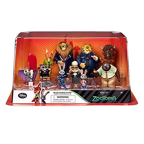 Disney Oficial Zootropolis Deluxe 10 Figura Playset