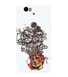 EPICCASE Crazy hat Mobile Back Case Cover For Huawei Nexus 6P (Designer Case)