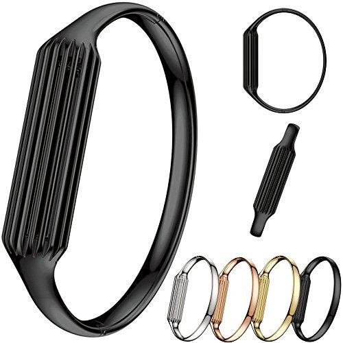 KOBWA Accesorio de Brazalete Pulsera para Fitbit Flex 2 (Negro)