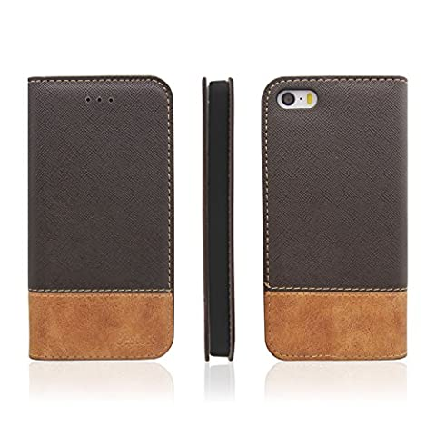 Coque Iphone 4 Cuir - Étui pour iPhone 5/5s/SE Cuir Coque,Bestoss Coque