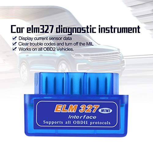 Mini Portable ELM327 V2.1 OBD2 II Diagnose Auto Auto Interface Scanner Blau Premium ABS Diagnose-Tool (Color Portable Scanner)