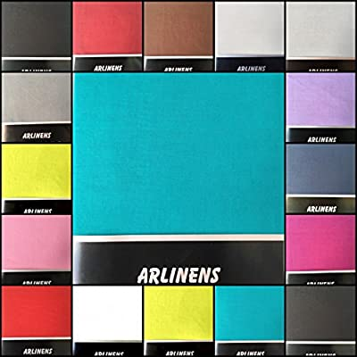 ARLINENS Luxury Plain Dyed Poly Cotton Platform Base Valance Sheet in Following Colours and Sizes